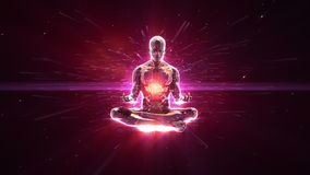 Meditatie loopable achtergrond royalty-vrije illustratie