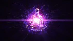 Meditatie loopable achtergrond vector illustratie