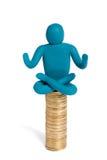 Meditatie over geld Stock Foto's