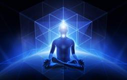 Meditatie van de mens royalty-vrije illustratie