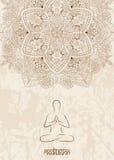 Meditatieachtergrond met mandala stock fotografie