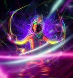 Meditatieillustratie Royalty-vrije Stock Foto