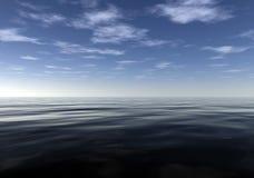 Meditatieve Kalme en Vreedzame Oceaan Stock Afbeeldingen