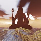 Meditating Λόρδος Shiva στοκ εικόνες με δικαίωμα ελεύθερης χρήσης