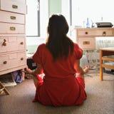 meditating детеныши женщины Стоковые Изображения RF