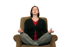 meditating женщина Стоковая Фотография