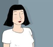 meditating женщина иллюстрация вектора