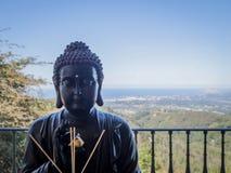meditating статуя Стоковые Фотографии RF