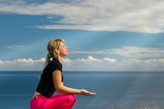 Meditating#1 Royalty Free Stock Photography