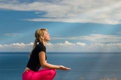 Meditating#1 Fotografia de Stock Royalty Free
