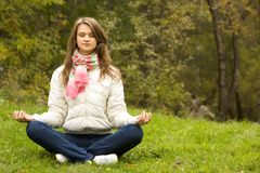 Meditating Stock Photography