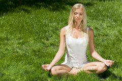 Meditating Stock Image