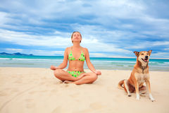 Meditating Royalty Free Stock Images