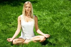 Meditating Royalty Free Stock Images