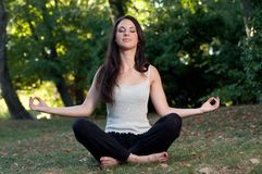Meditating Royalty Free Stock Photo
