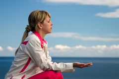 Meditating Imagens de Stock