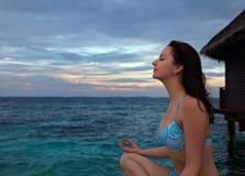 Meditating Стоковые Фотографии RF