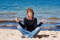 Meditating Imagens de Stock Royalty Free
