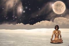 Meditating android Royalty Free Stock Image
