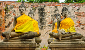 Meditating buddha Stock Images