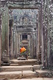 Meditating Buddha in Bayon Royalty Free Stock Photos