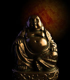 Meditating Buddha Bronze Statue stock illustration