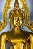 Meditating Buddha in Wat Pho Temple, Bangkok. Royalty Free Stock Photo