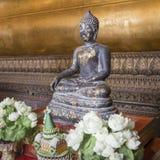 Meditating Buddha in Wat Pho Temple, Bangkok. Stock Photography