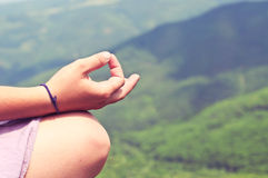 Meditating concept Stock Photography