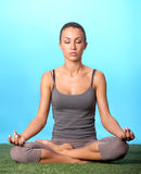 Meditating girl Royalty Free Stock Photo
