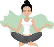 Meditating girl Royalty Free Stock Photo