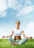 Meditating girl Stock Photography
