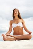 Meditating girl Royalty Free Stock Photos