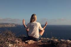 Meditating Stock Photography
