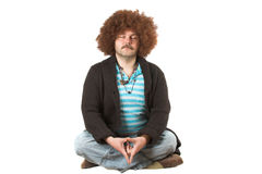 Meditating hippie Royalty Free Stock Photo