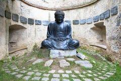 Meditating Japanese Buddha Statue Stock Photography