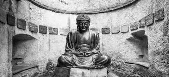 Meditating Japanese Buddha Statue Stock Image
