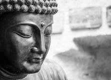 Meditating Japanese Buddha Statue Royalty Free Stock Photography