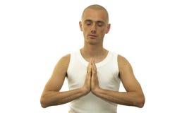 Meditating Man Royalty Free Stock Image