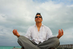 Meditating Man Stock Photos