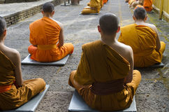 Meditating Monks Stock Photos