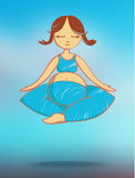 Meditating mother - vector illustration Royalty Free Stock Photography