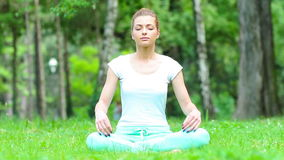 Meditating in park Royalty Free Stock Photography