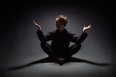 Meditating woman Stock Photos