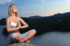 Meditating woman Royalty Free Stock Photography