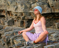 Free Meditating Woman Stock Photography - 2090692