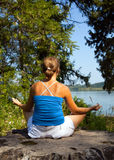 Meditating woman Royalty Free Stock Images