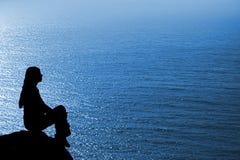 Meditating woman Stock Image