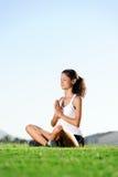 Meditating woman Stock Photography