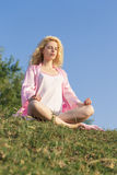 Meditating woman Stock Photography